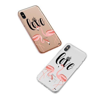 Flaming Love iPhone XS Case Clear