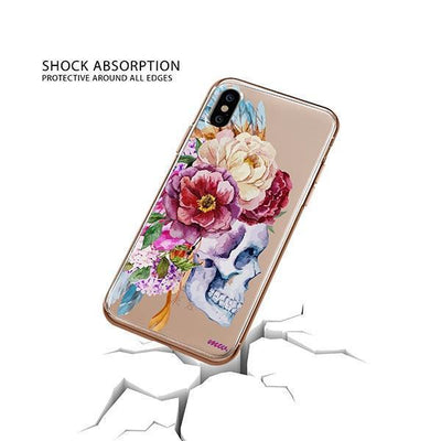 Craneo De La Flor iPhone XS Case Clear