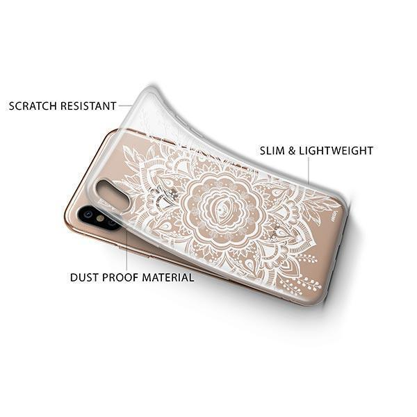 Henna Floral Eye iPhone XS Case Clear