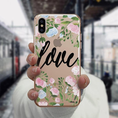 Floral Love iPhone XS Case Clear