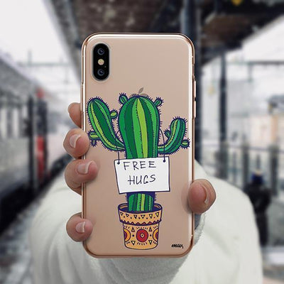 Free Hugs iPhone XS Case Clear