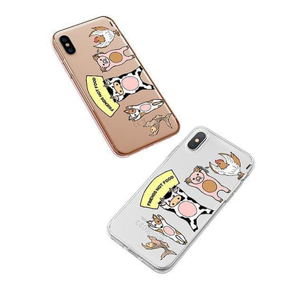 Friends Not Food - iPhone XS Case Clear