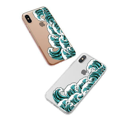 Full Great Wave Kanagawa iPhone XS Case Clear
