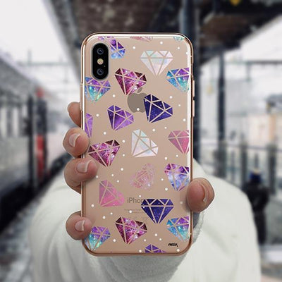 Galatic Diamonds iPhone XS Case Clear