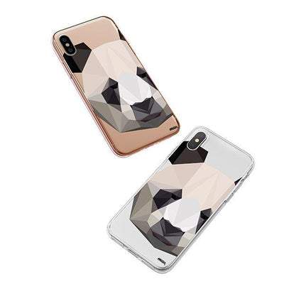 Geo Panda - iPhone XS Case Clear