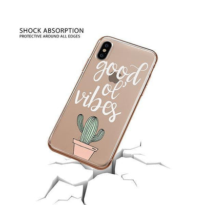 Good Ol Vibes iPhone XS Case Clear