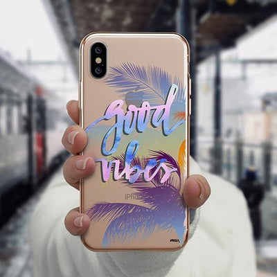 Good Vibes iPhone XS Case Clear
