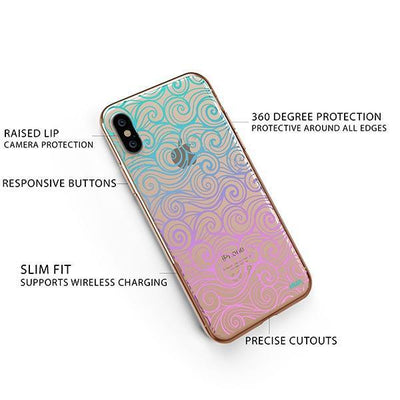 Gradient Wave iPhone XS Case Clear