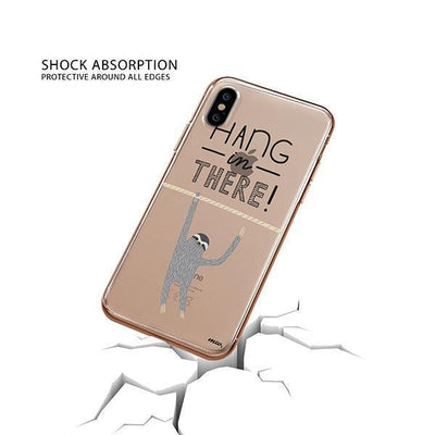 Hanging Sloth iPhone XS Case Clear