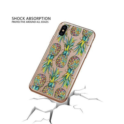 Hawaiian Pineapple iPhone XS Case Clear