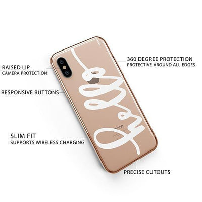 Hello iPhone XS Case Clear