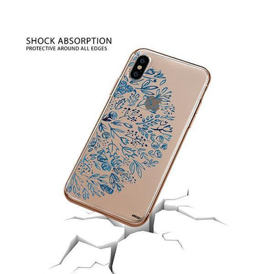 Indigo Henna iPhone XS Case Clear