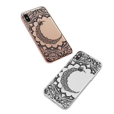Crescent Moon Henna iPhone XS Case Clear
