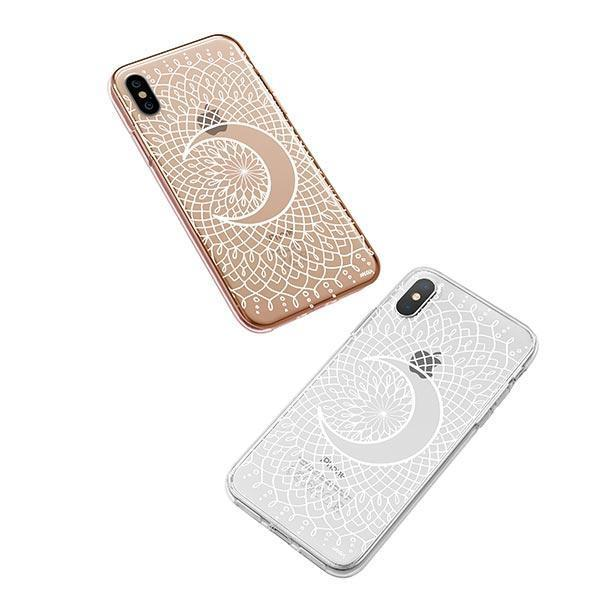 La Luna Mandala iPhone XS Case Clear