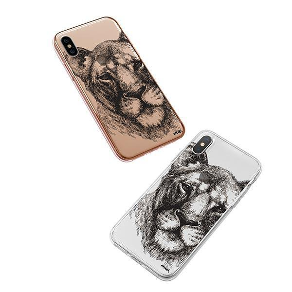 Lioness - iPhone XS Case Clear