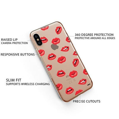 Lips iPhone XS Case Clear