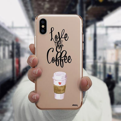 Love And Coffee iPhone XS Case Clear