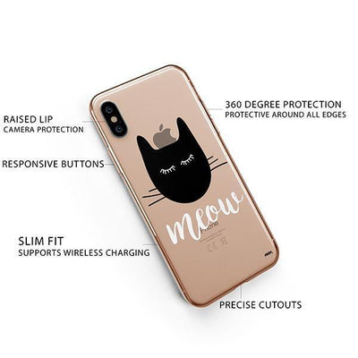 Meow - iPhone XS Clear Case