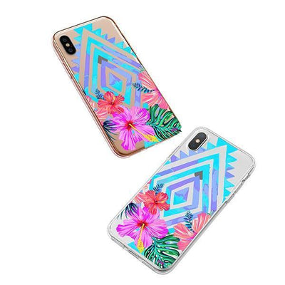 Navajo Hibiscus iPhone XS Case Clear