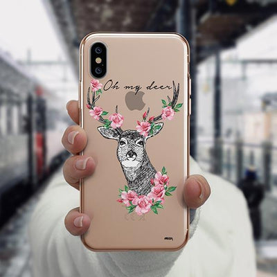 Oh My Deer - iPhone XS Case Clear