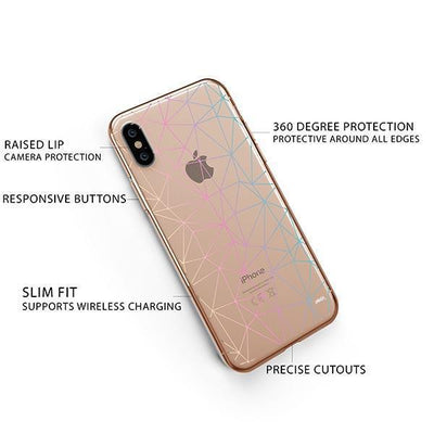 Ombre Geo iPhone XS Case Clear