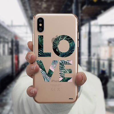 Palm Tree Love iPhone XS Case Clear