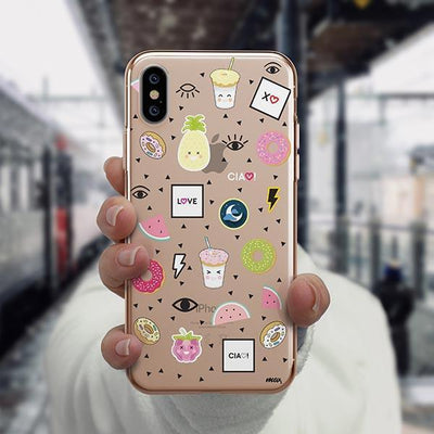 The Patch iPhone XS Case Clear