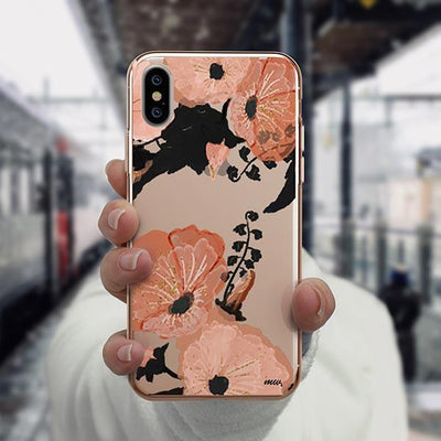 Peachy Floral iPhone XS Case Clear