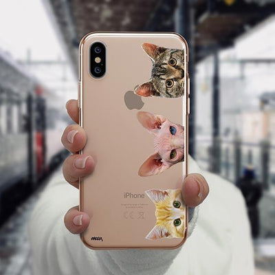Peeking Cats - iPhone XS Clear Case