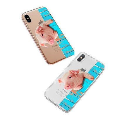 Pig on a Fence - iPhone XS Case Clear