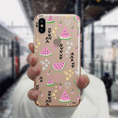 Pink Party iPhone XS Case Clear