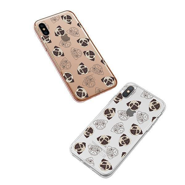 Pug Overload - iPhone XS Clear Case