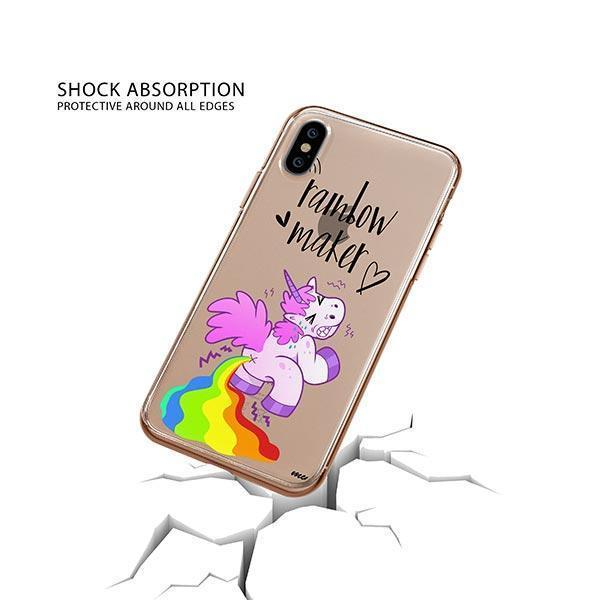 Rainbow Maker iPhone XS Case Clear