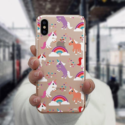 Rainbows and Unicorns iPhone XS Case Clear