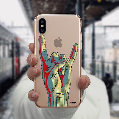Rock On iPhone XS Case Clear