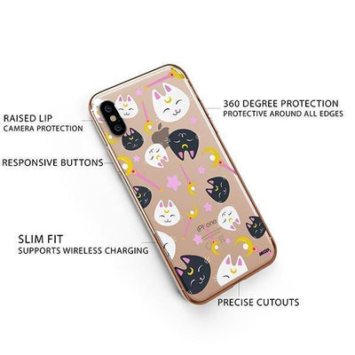 Sailor Kitty - iPhone XS Clear Case