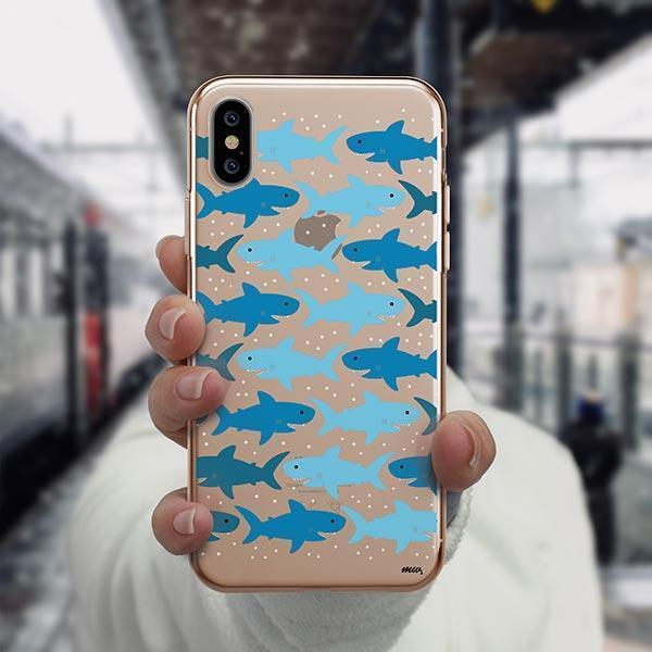 Sharkies - iPhone XS Case Clear