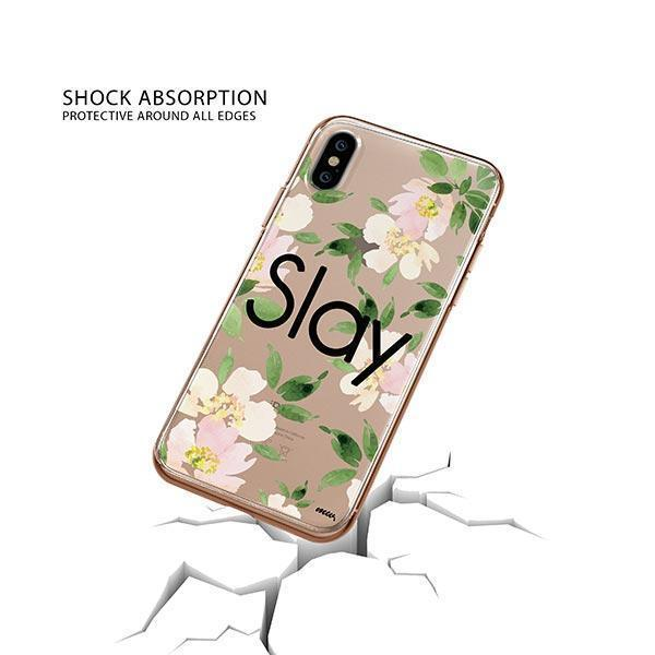 Slay with Flowers iPhone XS Case Clear