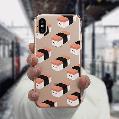 Spam Musubi iPhone XS Case Clear