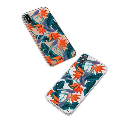 Strelitzia iPhone XS Case Clear