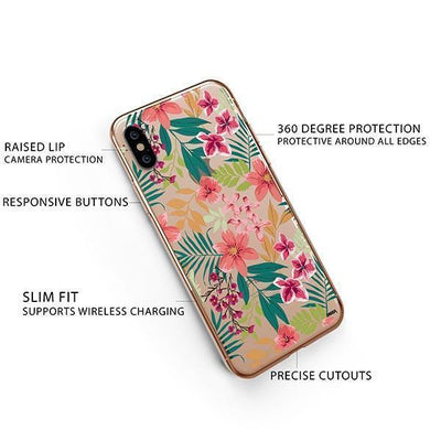 Summer Blossom iPhone XS Case Clear