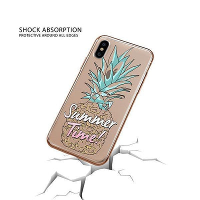 Summertime Pineapple iPhone XS Case Clear