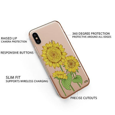 Sunny Sunflower iPhone XS Case Clear