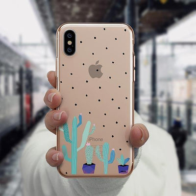 The Pricklies iPhone XS Case Clear