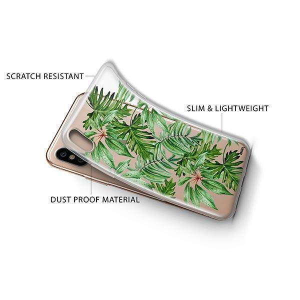 The Tropics iPhone XS Case Clear