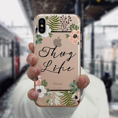 Thug Life iPhone XS Case Clear