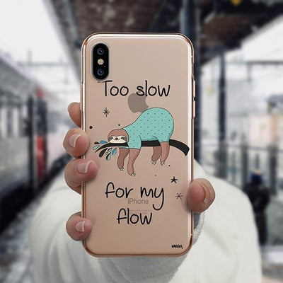 Too Slow iPhone XS Case Clear