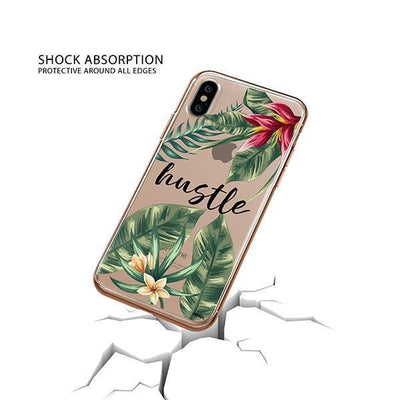 Tropical Hustle iPhone XS Case Clear