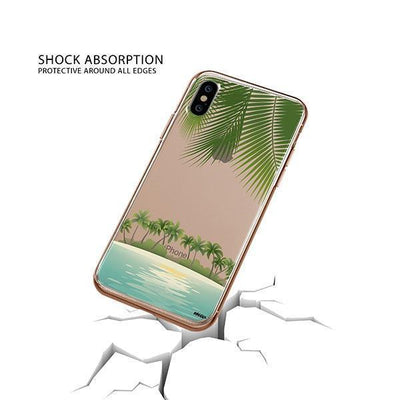 Tropical Beach iPhone XS Case Clear