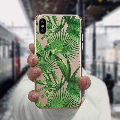 Tropical Palm Leaves iPhone XS Case Clear